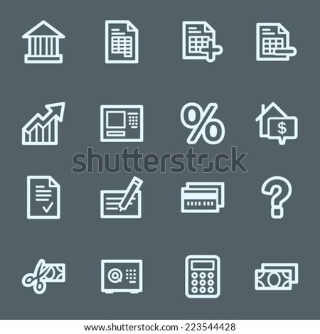 Banking web icons set - stock vector
