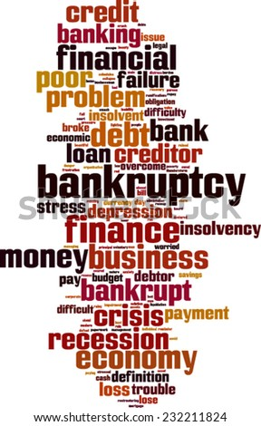 Bankruptcy word cloud concept. Vector illustration - stock vector