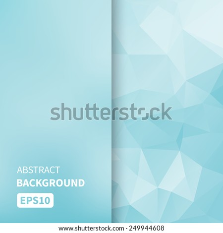 Banner design. Abstract template background with blue triangle shapes. Vector illustration EPS10 - stock vector