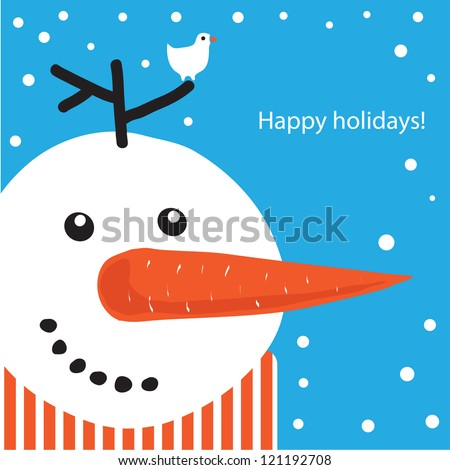 Banner design background, greeting Card. Vector frame./ Happy holidays! - stock vector