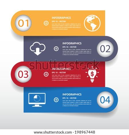Banner Design template on white background - stock vector