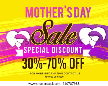 Banner,flyer or poster of Mother's Day,sale offer background.