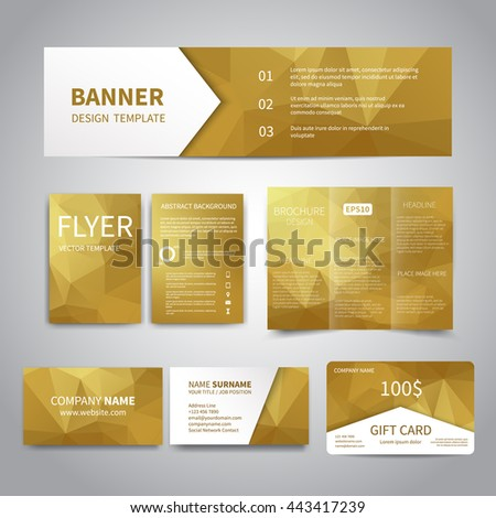 Banner flyers brochure business cards gift stock vector hd royalty banner flyers brochure business cards gift card design templates set with geometric colourmoves