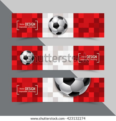 Banner for Euro 2016 World FIFA championship. Euro 2016 Austria participant. Football competition. Advertisement card. Flyer, template, brochure design. Football ball and the flag of Austria - stock vector