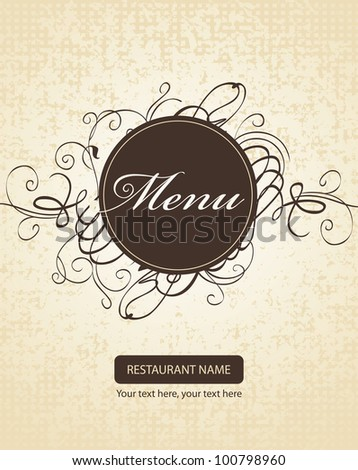 Banner for menus with curls - stock vector