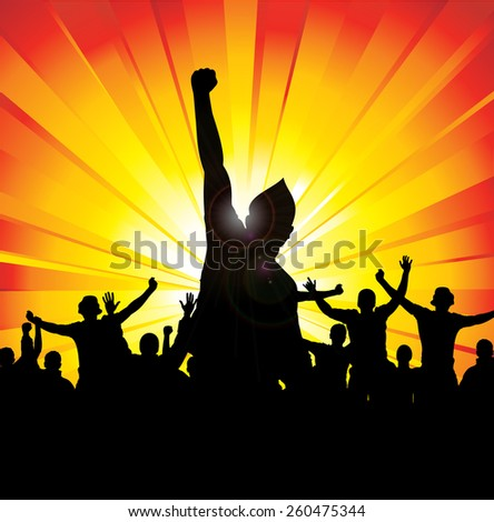 Banner for sports championship and concert - stock vector