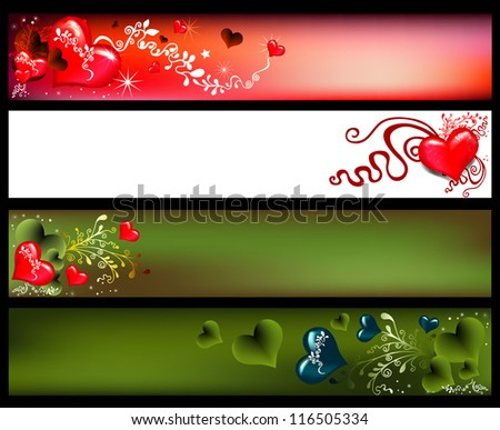 Banner for Valentine's Day - stock vector