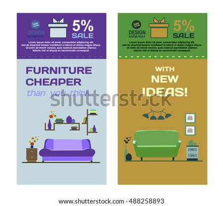 Banner Furniture Sale Advertisement Flayers Stock Vector HD Royalty