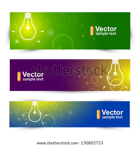 Banner Ideas Lamp Stock Vector 130802753 - Shutterstock