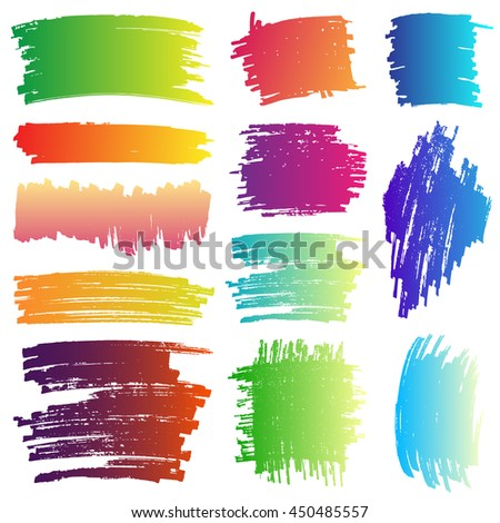 Banner ink paint gradient set with Beautiful color. Vector illustration. Can use for background banner promotion.