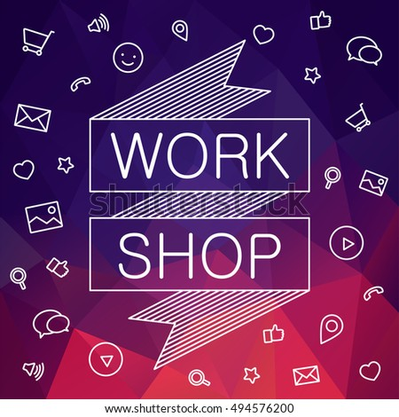 Banner invitation hackathon workshop vector banner stock vector banner invitation for hackathon workshop vector banner of social meda hackathon vector ads stopboris Images