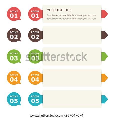 Banner Label Design - stock vector