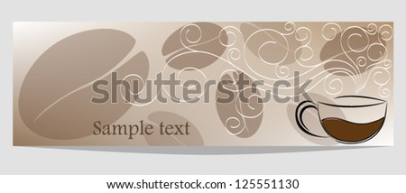 Banner on coffee