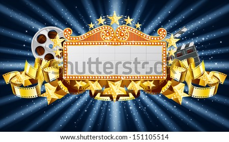 Banner on starry background, EPS 10, contains transparency - stock vector
