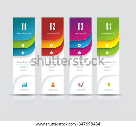 Banner on the product description with a space for text. Can be used for workflow layout, diagram, number options, web design. - stock vector
