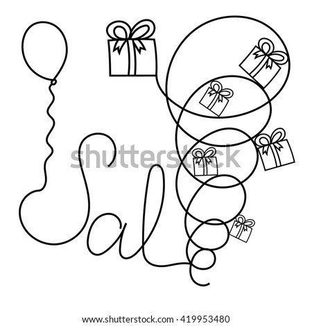Banner on the sale of hand-drawn marker, pencil. The concept of fast and cheap sale of goods, like a tornado, a hurricane. - stock vector