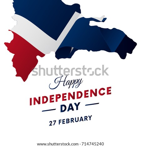 Banner Poster Dominican Republic Independence Day Stock Vector - Dominican republic independence day