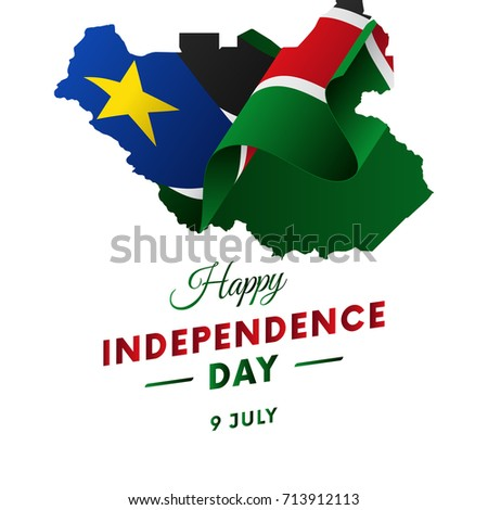 South sudan independence day stock images royalty free images banner or poster of south sudan independence day celebration south sudan map waving flag gumiabroncs Gallery