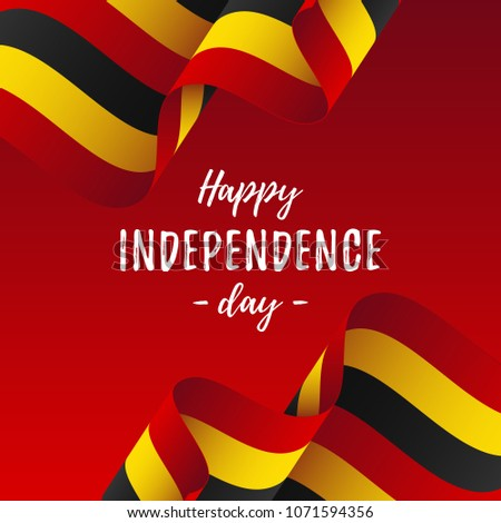 Banner Poster Uganda Independence Day Celebration Vectores