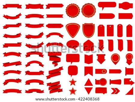 Banner. Ribbon banner. Ribbon. Vintage banner. Web banner. Banner vector. Label. Flag. Banner design. Banner template. Banner background. Banner scroll. Banner stand. Banner icon. Ribbon vector. - stock vector