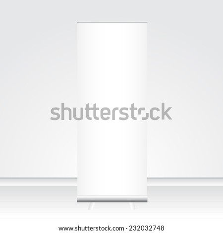 banner roll up - stock vector