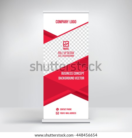 placement brochure design - banner rollup design business concept graphic stock vector