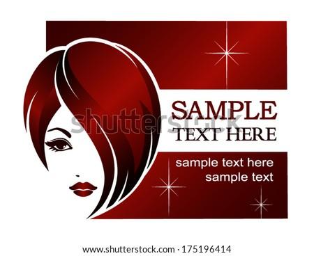 Banner template for beauty salon, spa, hair styles, vector logo design - stock vector