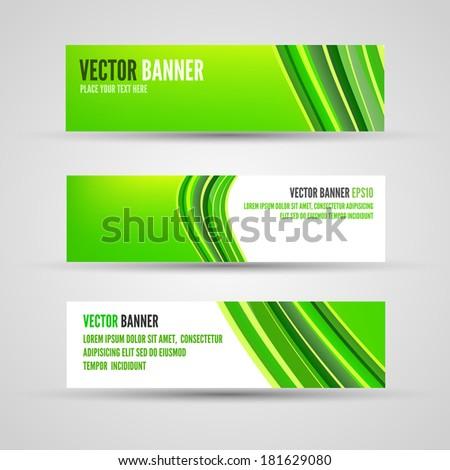 material design banners set modern green stock vector 390546232