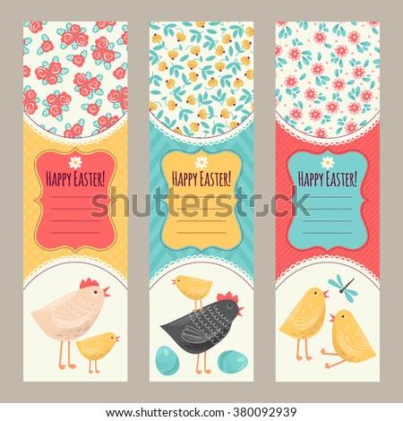 Banner Templates Happy Easter Stock Vector 380092939 - Shutterstock