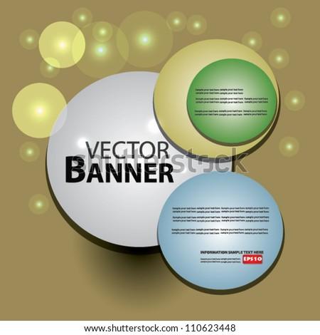 Banner,Vector - stock vector