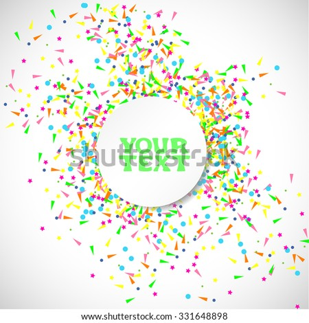 Banner Vector. Confetti Background with space for text.