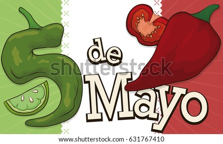 banner colors mexican flag made traditional stock vector 631767410