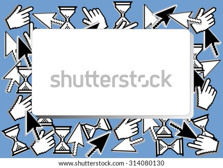 banner with computer cursor combination ,background. vector - stock vector
