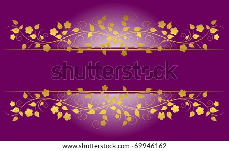 Banner with floral ornament. Vector illustration. - stock vector