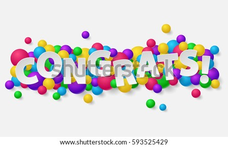 Banner paper white letters balls balloons stock vector 593525429 banner with paper white letters balls balloons and lettering congrats vector illustration altavistaventures Gallery