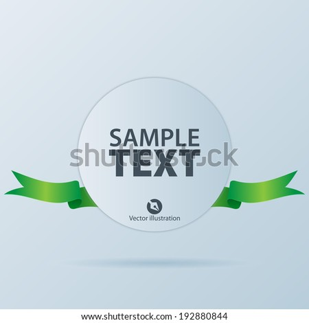 Banner with ribbon - stock vector