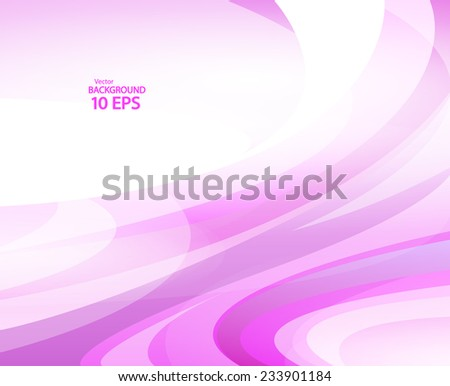 Banner with violet waves. Vector Illustration Eps 10 - stock vector