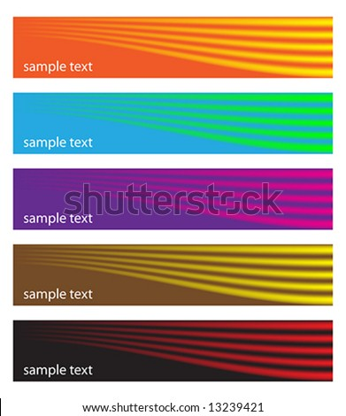 Banners - stock vector