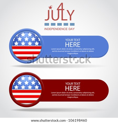 Banners by July 4th - stock vector