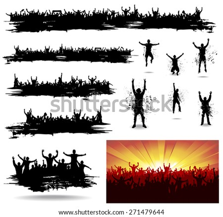 Banners for sporting events and concerts  - stock vector