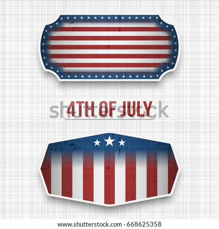 Banners for 4th of July american Holiday