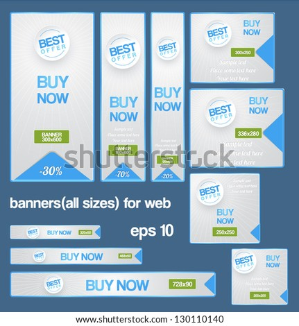 Banners for web (all sizes) - stock vector