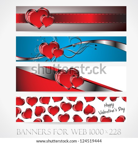 Banners for web. Love. (Vector collection9). Clip-art