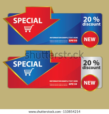 Banners for web,Vector - stock vector