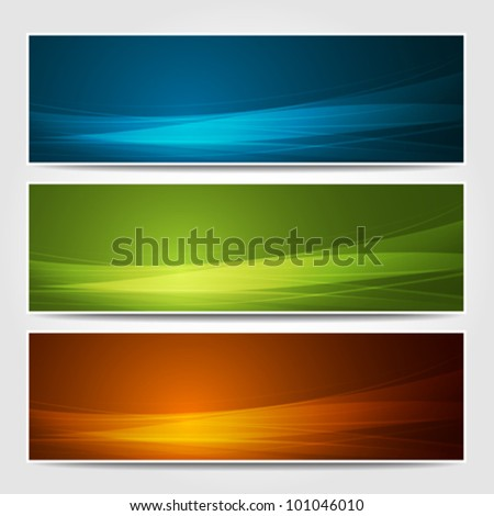 Banners modern wave design, colorful background. vector illustration - stock vector