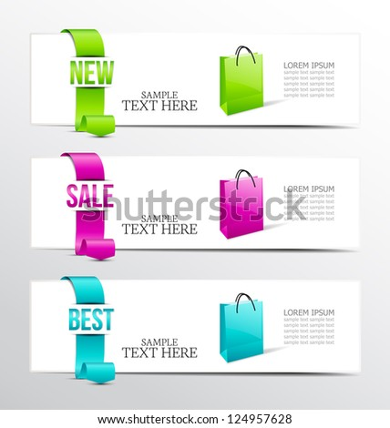 banners of ribbon for product description