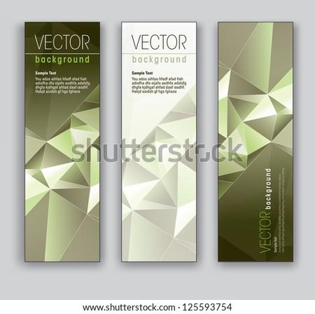Banners. Set of Three. Modern Vector Design. - stock vector