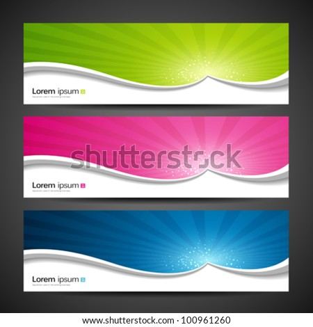 Banners sunlight design, colorful background. vector illustration - stock vector