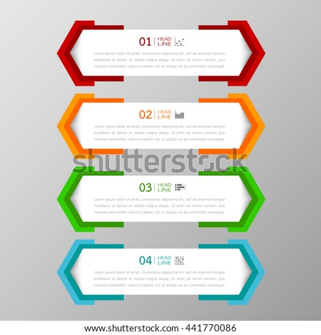 banners template colorful tabs design illustration stock vector, Powerpoint Presentation Template With Tabs, Presentation templates