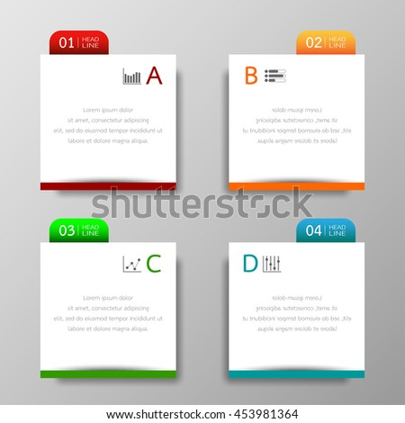 Tabs stock images royalty free images vectors - Text banner design ...